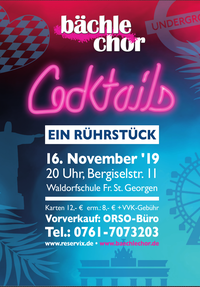 Cocktails Konzert am 16.11.2019